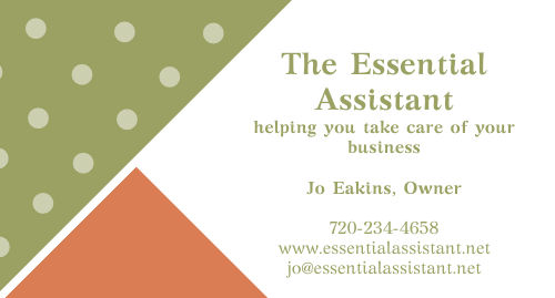 Jo Eakins of The Essential Assistant